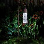 Laterne Leuchtturm Solar mit Bodenanker