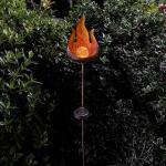 Leuchtkugel Flamme Solarlampe