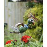 Papagei Twirly auf Bodenstecker - Metall