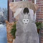 Frostschutzhülle 115 x 120 cm - Esel