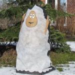 Frostschutzhülle 115 x 120 cm - Schaf