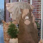 Frostschutzhülle 120 x 120 cm - Pferd
