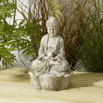 Buddha Zen mit Solarleuchte