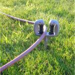 Gartenschlauchumlenkrolle mit Erdspieß
