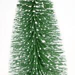 Tannenbaum verschneites Grün - 20 cm (6 stück)