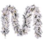 Dinsmore Girlande gefrostet mit LED-Beleuchtung - L 270 cm