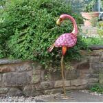 Flamingo Gartenfigur - Metall