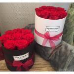 Blumenbox Rund Weiß Ø 10 cm - Rot