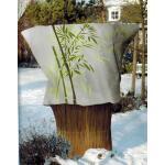Pflanzenhülle mit Bambusdruck 120 x 180 cm