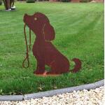 Hund Lucy mit Leine - Dekorost