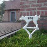 Hundeschild nicht pinkeln - weiß