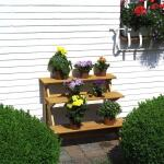 Blumentreppe aus Holz - Blumenregal (GERADE)