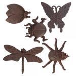 Wanddekoration Insekten aus Gusseisen