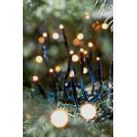 Weihnachtsbeleuchtung Cluster 1128 Led schwarz mit Dimmer - 10 m