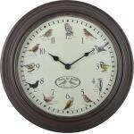 Uhr mit Vogelgeräuschen