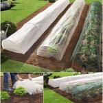 Pflanzentunnel mit 3 Hüllen: Netz, Vlies und Folie