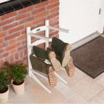 Stiefelregal stehend aus Holz - 8 Stiefel