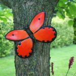 Schmetterling orange Wanddekoration