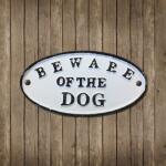 Wandschild Beware of the DOG