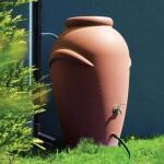 Tonneau d'eau de pluie en imitation terracotta - 360 litres