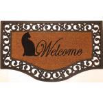 Fußmatte Rialto halbrund 45 x 75 cm - Welcome Katze