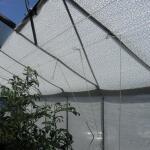 Schattentuch weiß 5 x 1,8 m