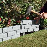 Garteneinfassung Kunststoff Backsteinmotiv