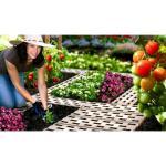 Gartenwegplatten - Bodenplatten braun (8 stück)