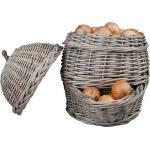 Zwiebelkorb aus Weidenzweigen