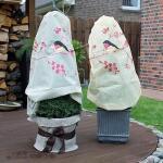 Frostschutzhülle 90 x 110 cm - Rotkehlchen