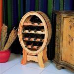 Ovales Weinregal aus Holz
